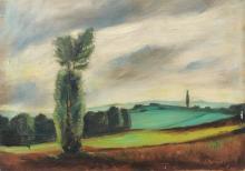 Siegfried Berndt, Landschaft bei Dresden. Wohl 1930''s.