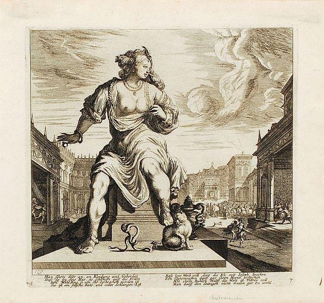 Melchior Küsel, Klytämnestra/ Bacchantin. 2nd half 17th cent.
