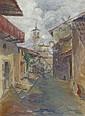 Heinrich Ehmsen, Italienische Gasse. Um 1920., Heinrich Ehmsen, Click for value