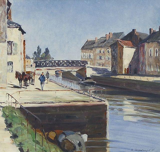 Richard Birnstengel, Stadt am Kanal. 1918.