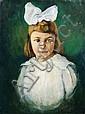 Johannes Beutner, Mädchen mit weißer Schleife. Um 1920., Johannes Beutner, Click for value