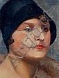 Otto Nückel, Frau mit schwarzem Hut. Um 1920., Otto Nückel, Click for value