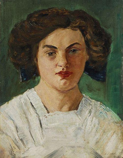 Alfred Partikel, Bildnis Dorothea Körte (die spätere Gattin des Künstlers). 1913.