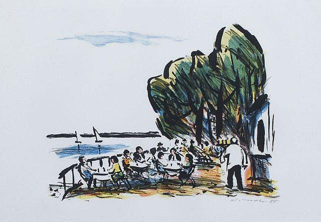 Arno Mohr, Café am See. 1985.
