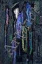 Hans Szym, Komposition in Violett und Blau. 1958., Hans Szym, Click for value