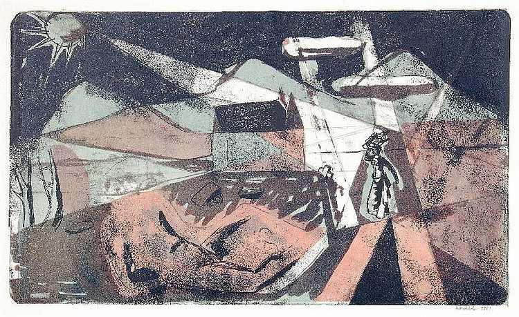 Karl Rödel/ Hans Christoph, Ohne Titel. 1953/ 1973.