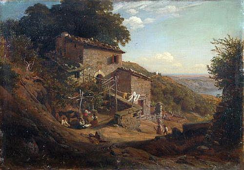 Carl Wilhelm Müller, Italienische Landschaft mit