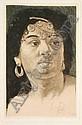 Bruno Héroux, Orientalische Dame. 1920's.Etching, Bruno Héroux, Click for value