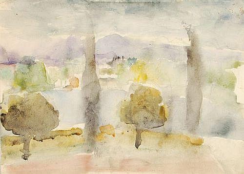 Richard Otto Voigt, Mediterrane Landschaft. 1st