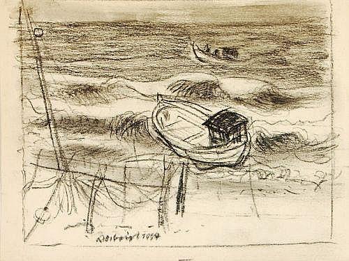 Richard Otto Voigt, Fischerboote auf dem Meer. 1st