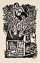 Lothar Sell, Blumenboot/ Mann im Baum. 1983. Wood, Lothar Sell, Click for value
