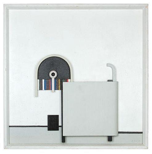 Heinrich Trost, Geometrisches Relief. 1989.