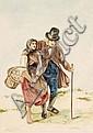 Friedrich Moritz Wendler, Wanderndes Paar. 1840er/ 1850's.