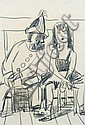 Karl Ortelt, Harlekin und Artistin. 1950's., Karl Ortelt, Click for value