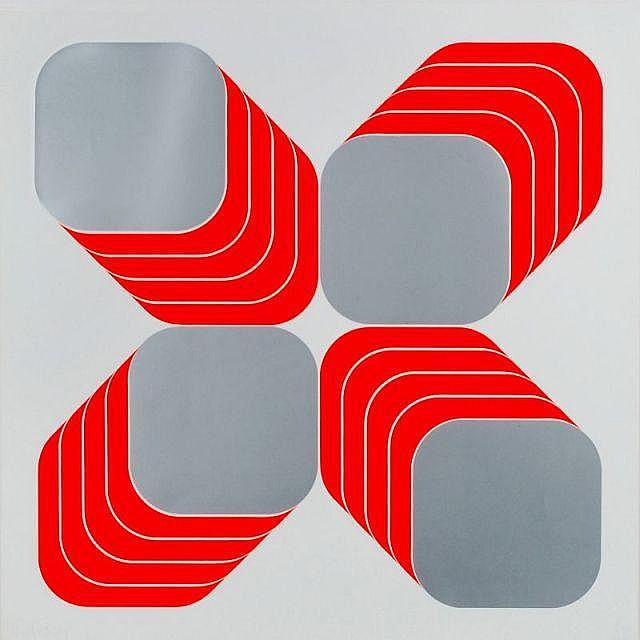 Thomas Lenk, Schichtung - Diagonal. 1969.