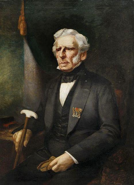 Ferdinand von Rayski(zugeschr.), Portrait Wolf Adolf August von Lüttichau. Um 1850.