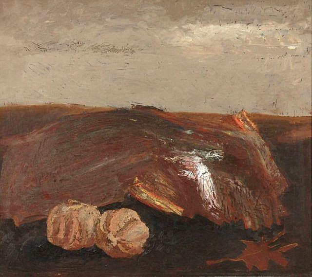 Werner Wittig, Landschaft mit Granatäpfeln. 1985.