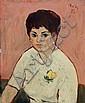 Heinrich Witz, Damenportrait. 1957.