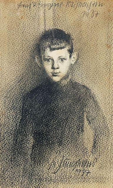 Fritz Junghans, Knabenportrait. 1937.