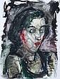 Hubertus Giebe(zugeschr.), Mädchen mit roten Lippen. No date., Hubertus Giebe, Click for value