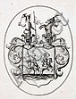 Unbekannter Künstler, Vier Wappendarstellungen. 18th cent.