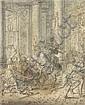 Matthias Scheits, Vertreibung des Helidor aus der Tempel (Makk 2,3). Um 1672.