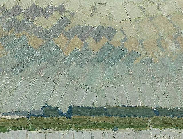 Minna Köhler-Roeber, Landschaft im Sonnenlicht. 1917.