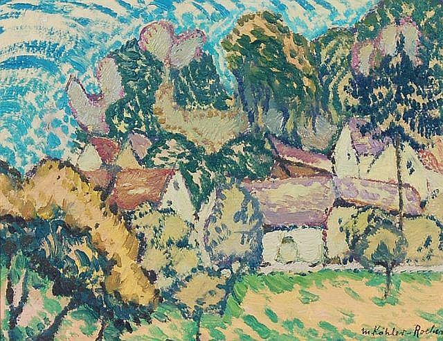 Minna Köhler-Roeber, Dorfansicht. 1920.
