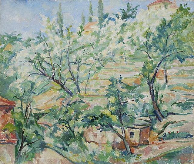 Otto Schubert, Am Elbhang. Nach 1950.