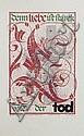 Verschiedene Dresdner Künstler, Konvolut von 25 Arbeiten auf Papier und druckgraphischen Arbeiten. 20th cent.