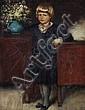 Papperitz(zugeschr.), Bildnis eines Knaben. Um 1870.
