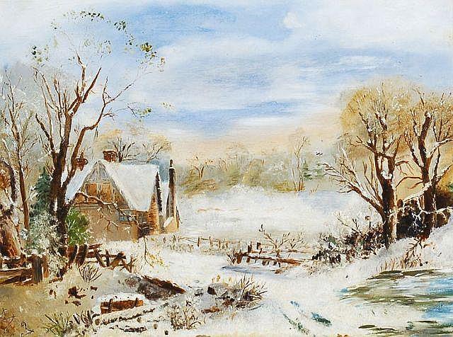 Mason Jackson(zugeschr.), Winteridyll mit Gehöft. 1892.