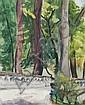 Ilse Bettenheim-Hoernecke, Brücke im Wald. No date.