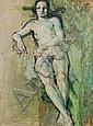 Unbekannter französischer Künstler, Sitzender weiblicher Akt. Um 1930.