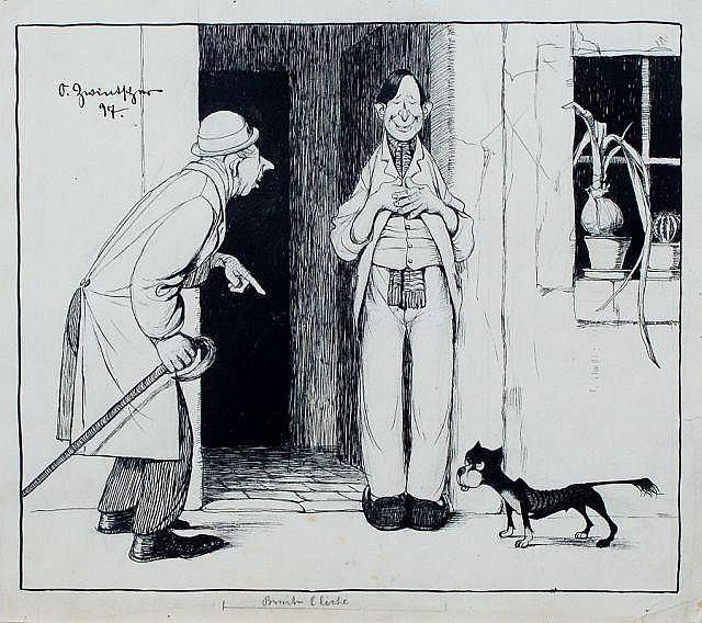 Oskar Zwintscher, Entwurfszeichnung für die