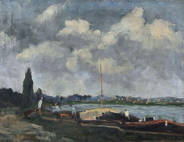 Frode Nielson Dann(zugeschr.), Flusslandschaft. 2nd half 20th cent.