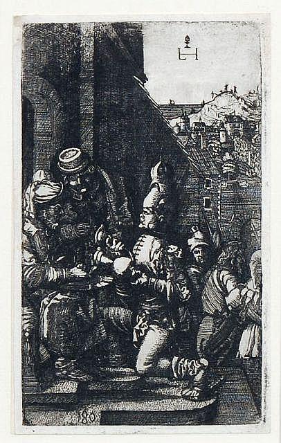 Lampert Hopfer, Die Handwaschung des Pilatus. Um 1530.