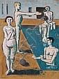 Emil Doerstling, Im Schwimmbad. Um 1930.