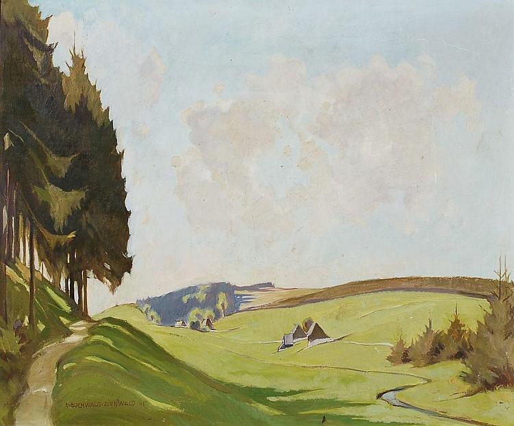Erich Buchwald-Zinnwald, Erzgebirgslandschaft. 1945.