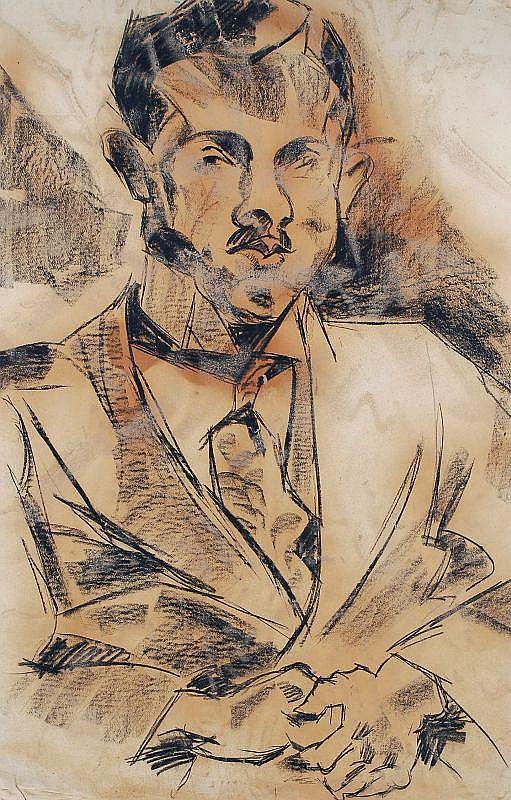 Carl Lohse, Portrait eines Rechtsanwalts. 1919- 1921.