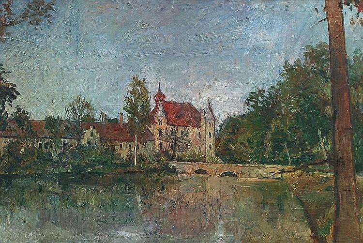 Theodor Joseph Hagen(Schule), Wolfersdorf - Jagdschloß zur Fröhlichen Wiederkunft. Um 1910.