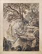 Friedrich Preller d.J., Szene aus der Ilias, Ges. 1, Vers 428 (Thetis tröstet Achill). 1881/ 1882., Friedrich Preller, Click for value