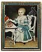 Unbekannter Künstler, Bildnis eines Kindes mit Spielzeugsoldaten. 1st half 18th cent.