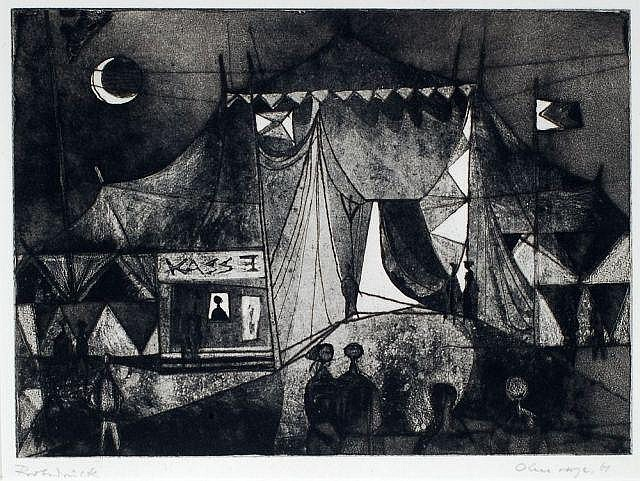 Paul Ohnesorge, Abendvorstellung im Zirkus. 1961.