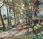 Richard Pusch, Herbstspaziergang. 1950er/ 1960's., Richard Pusch, Click for value