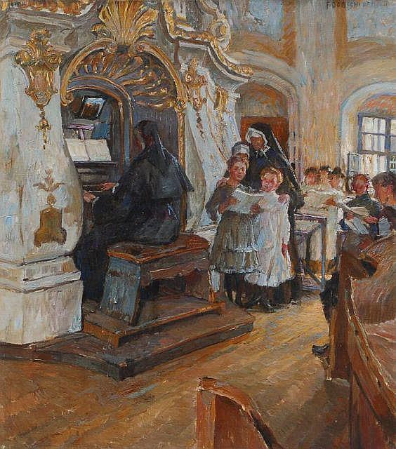 Ferdinand Dorsch, In der Schloßkapelle Weesenstein. 1915.