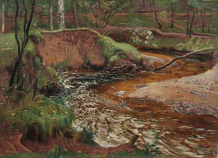 Georg Lührig, Bachlauf in der Dresdner Heide. 1897.
