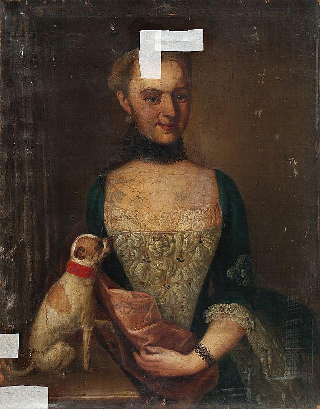 Unbekannter Künstler, Bildnis der Christiana Friedericka Hermann. 2nd half 18th cent.