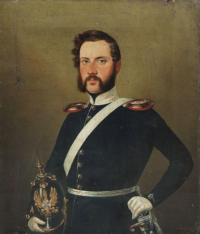 Józef Edward August Gillern, Portrait eines Offiziers. 1845.