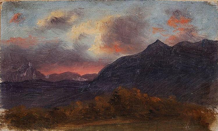 Heinrich Louis Theodor Gurlitt, Abendliche Berglandschaft. Mitte 19th cent.